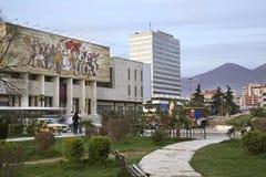 Nationellt historiemuseum i Tirana albacoren royaltyfri foto