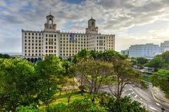 Nationellt hotell - havannacigarr, Kuba Royaltyfri Bild