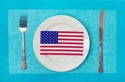 Nationellt kök av USA arkivbild