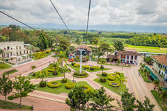 NATIONELLT KAFFE PARKERAR, COLOMBIA, nedåtriktad sikt av Royaltyfri Foto