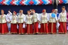 Nationellt kollektiv på enheterna VI av folket av Moskvaregionen Royaltyfri Foto
