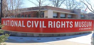 Nationellt medborgerlig rättighetmuseum på Lorraine Motel Fotografering för Bildbyråer