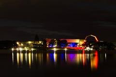 Nationellt museum av Australien i blått, vitt och rött Royaltyfri Fotografi
