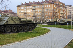 Nationellt museum av militär historia Sofia, Bulgarien Arkivfoton