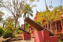 Nationellt museum i pagod för Cambodja självständighetsdagenRoyal Palace silver Royaltyfri Foto