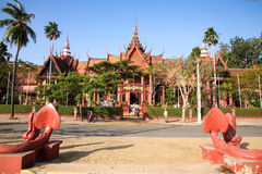 Nationellt museum i pagod för Cambodja självständighetsdagenRoyal Palace silver Arkivfoton
