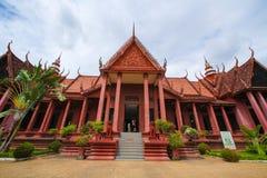 Nationellt museum i pagod för Cambodja självständighetsdagenRoyal Palace silver Royaltyfri Fotografi