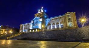Nationellt museum på natten Royaltyfri Bild