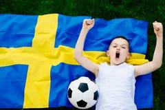 nationellt sweden för fotboll lag Royaltyfria Bilder