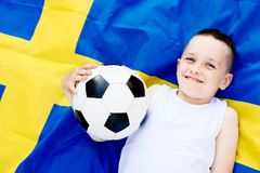 nationellt sweden för fotboll lag Royaltyfria Foton