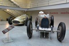 Nationellt tekniskt museum Prague - Bugatti 51 grand prix Royaltyfria Bilder