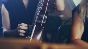 Nationellt ukrainskt musikinstrument Bandura spelaremusik lager videofilmer