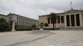 Nationellt universitet av Aten i Grekland arkivfilmer