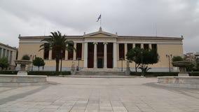 Nationellt universitet av Aten i Grekland stock video