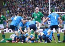 NATIONEN 2015 RBS 6; ITALIEN - IRLAND, 3-26 Lizenzfreies Stockfoto