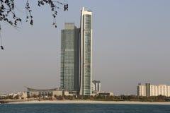 Nationen står högt Abu Dhabi royaltyfri bild