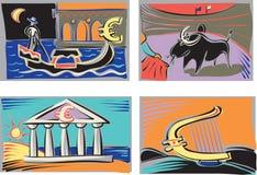 Nationer av euroet royaltyfri illustrationer