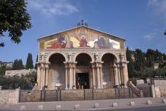Nationer för kyrka allra - Jerusalem - Israel arkivbilder