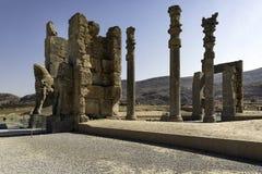 Nationerna för port allra i Persepolis, Iran Arkivbild