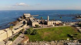 National Park Caesarea stock video