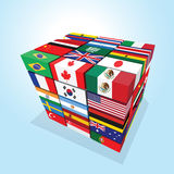 Nations cube Stock Photos