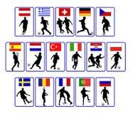 Nations du football Image libre de droits