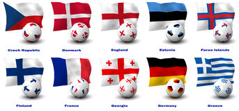 Nations européennes du football Image stock