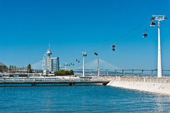 Nations Park of Lisbon. View on Vasco Da Gama Tower in Nations Park of Lisbon (Portugal Stock Images