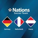 Nations Soccer Team Vector Template Design Illustration stock image
