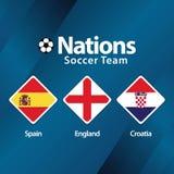 Nations Soccer Team Vector Template Design Illustration stock photos