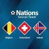 Nations Soccer Team Vector Template Design Illustration royalty free stock photography