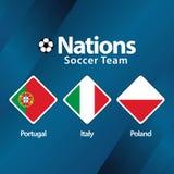 Nations Soccer Team Vector Template Design Illustration stock photo
