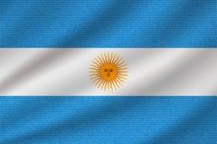 Nationsflagga av Argentina stock illustrationer