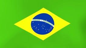 Nationsflagga av Brasilien som vinkar i vind royaltyfri illustrationer
