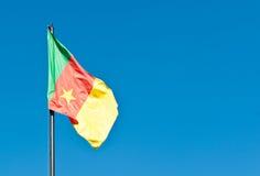 Nationsflagga av Cameroo Arkivfoto