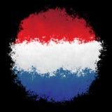 Nationsflagga av Nederländerna Royaltyfria Foton