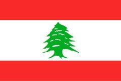 Nationsflagga av Republiken Libanon Royaltyfri Bild