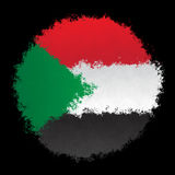 Nationsflagga av Sudan Royaltyfri Fotografi