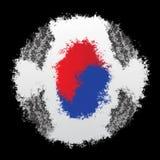 Nationsflagga av Sydkorea arkivfoto