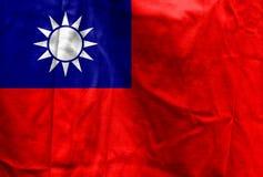 Nationsflagga av Taiwan Arkivbild