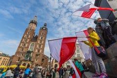 Nationsflaggadag av Republiken Polen Royaltyfria Bilder