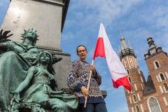 Nationsflaggadag av Republiken Polen (vid handlingen av 20 Februari 2004) som firas mellan ferierna Royaltyfria Bilder