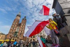 Nationsflaggadag av Republiken Polen (vid handlingen av 20 Februari 2004) som firas mellan ferierna: Royaltyfri Fotografi