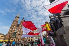 Nationsflaggadagen av Republiken Polen firade mellan ferierna Royaltyfria Bilder