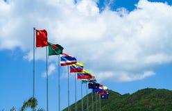 Nationsflaggaflaggabaner Royaltyfri Fotografi