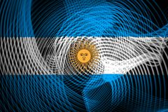 Nationsflaggan av Argentina royaltyfri illustrationer