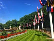 Nationsflaggan av Förenade kungariket, London royaltyfria bilder