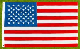 Nationsflaggan av Förenta staterna Royaltyfri Bild