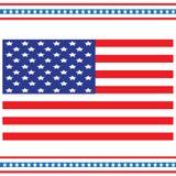 Nationsflaggan av Förenta staterna, också som är bekant som stjärnorna och banden En ferie av minnet och veteran royaltyfri illustrationer
