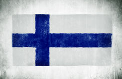 Nationsflaggan av Finland Arkivfoto
